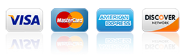VAMLINK accepts VISA, MasterCard, American Express, and Discover